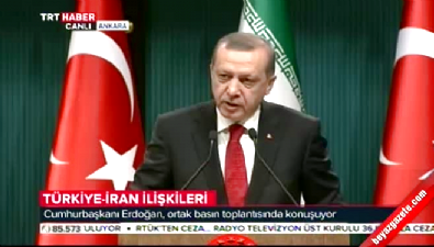 Cumhurbaşkanı Erdoğan Ruhani ile ortak basın toplantısı düzenledi