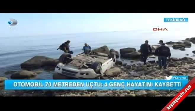 marmara ereglisi - Uçuruma Düşen Araçtaki 4 Kişi Öldü