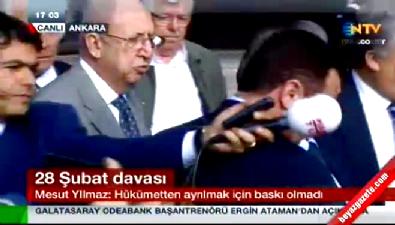 Gazetecinin sorusu Mesut Yılmaz'ı kızdırdı
