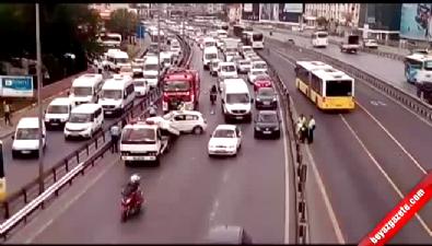 Sefaköy'deki kaza E-5'i kilitledi