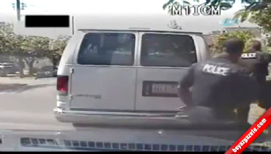 Eli bıçaklı şahıs polis tarafından böyle vuruldu