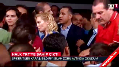 Darbe bildirisi okutulan TRT spikeri konuştu