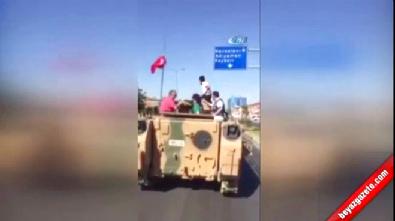 Vatandaşlar Ele Geçirdikleri Tankla Şehir Turu Attı