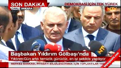 golbasi - Başbakan Yıldırım: Darbe girişimini 15 dakika sonra eşten dosttan öğrendim