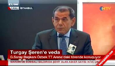 Dursun Özbek, Turgay Şeren'e anma töreninde konuştu