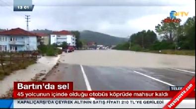 Sağanak yağmur, Düzce, Zonguldak, Bartın Amasra'da sele yol açtı