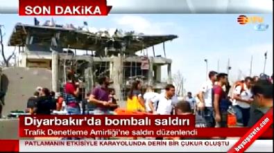Diyarbakır'da polise bomba yüklü araçla saldırı.. Şehitler ve yaralılar var!