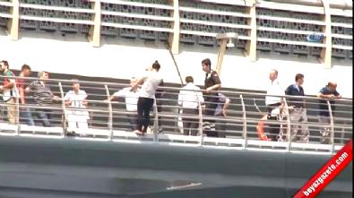 İntihar etmek için Haliç Metro Köprüsü'ne çıkan kadın bayıldı!