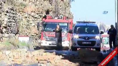 İstanbul'da surlar çöktü