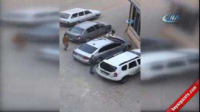 Kocasına kızdı, öfkesini arabadan çıkardı