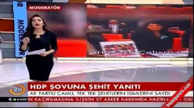 HDP şovuna şehit isimleriyle karşılık verdi