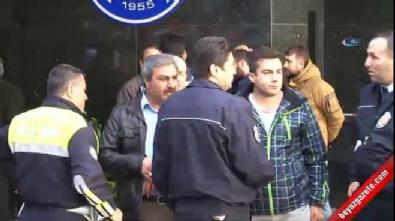 Şehit polisin eşi gözyaşları içinde hastaneden ayrıldı