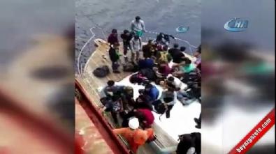 Türk gemisi Akdeniz'de 75 göçmeni kurtardı