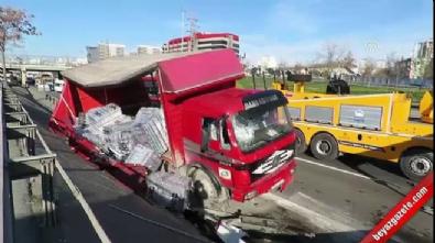 Basın Ekspres Yolu'nda zincirleme trafik kazası: 2 yaralı