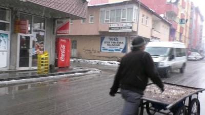 kahvehane -  Ağrı'da kar yağışı etkili oluyor