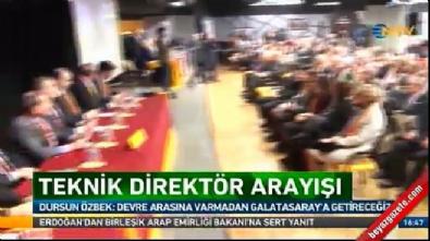 Dursun Özbek yeni teknik direktör için tarih verdi!