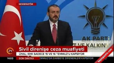 AK Parti Sözcüsü Ünal'dan sivile yargı muafiyeti polemiğine ilişkin açıklama