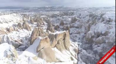 kapadokya - Turistler 'Beyaz Kapadokya'ya hayran kalıyor