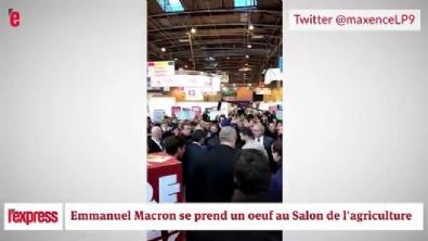 fransa - Fransa Cumhurbaşkanı adayı Macron'a yumurtalı saldırı