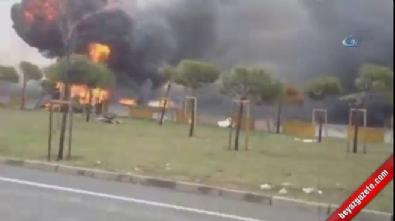 Helikopterin patlama anı kamerada