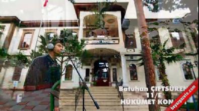 Lise öğrencileri Çanakkale Türküsü'nü seslendirdi