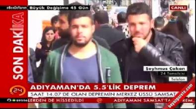 5.8'lik deprem sonrası halk sokağa döküldü! (Adıyaman-Elazığ-Malatya)