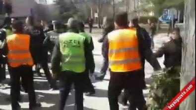 abdullah ocalan - 'Öcalan'a İdam' pankartı asan öğrencilere saldırı