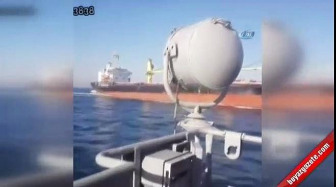sarayburnu - Şehit verdiğimiz gemi kazası kamerada