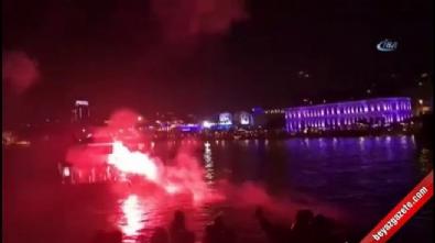 Beşiktaş taraftarı Lyon'u uyutmadı