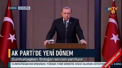 Cumhurbaşkanı Erdoğan havalimanında soruları yanıtladı