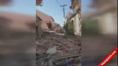 Yunanistan'da bazı binalar yıkıldı