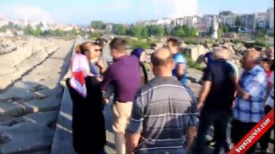 Beton blok arasına düşen çocuğu imam kurtardı
