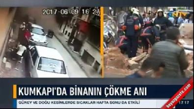 İstanbul Fatih'te bina çöktü
