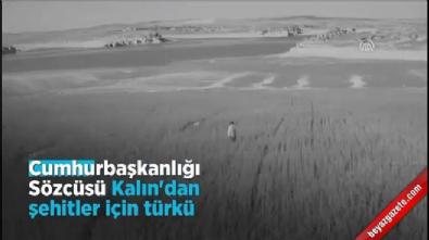 Cumhurbaşkanlığı Sözcüsü Kalın'dan şehitler için türkü