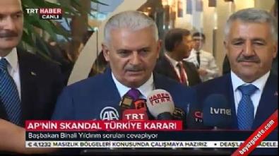 Başbakan Yıldırım'dan AP'nin kararına tepki
