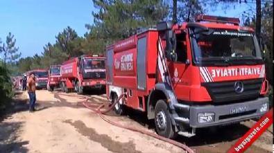 Sarıyer'de orman yangını, 15 dönüm alan zarar gördü