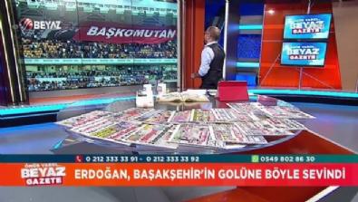 Erdoğan, Başakşehir'in golüne böyle sevindi