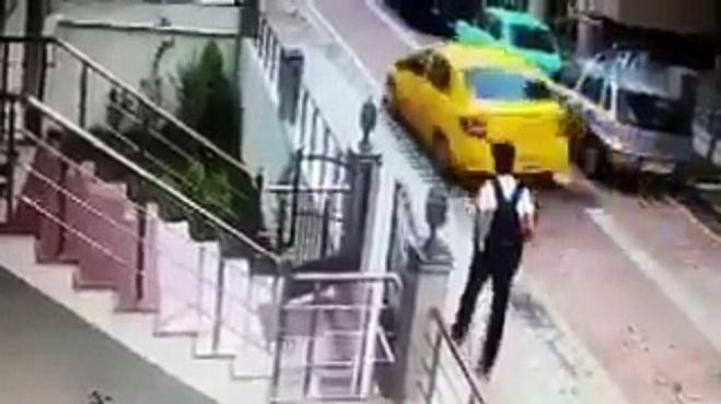 avcilar belediyesi - İstanbul Avcılar'da taksi şoförü köpeği ezip kaçtı!