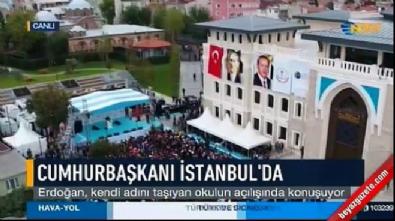 Cumhurbaşkanı, kendi adını taşıyan İmam Hatip Lisesi'nin açılışını yaptı