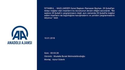 MAZLUMDER'den '28 Şubat siyasi yargı kararları iptal edilsin' talebi - İSTANBUL