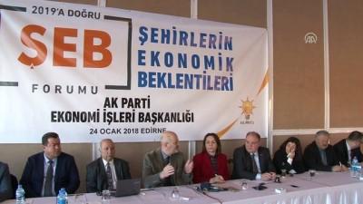 siyasi parti - 'Türkiye sağlıklı ekonomik istikrarı gerçekleştiriyor' - EDİRNE