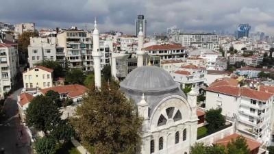 Restorasyonu tamamlanan tarihi Cihangir Camii havadan görüntülendi