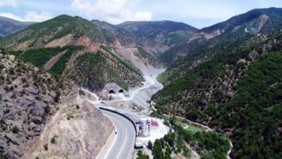 karayolu tuneli -  Yeni Zigana Tüneli'nde havalandırma şaftları imalatı tünel çalışmalarını yavaşlatıyor