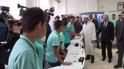 imam hatip okullari - Diyanet İşleri Başkanı Erbaş, öğrencilere Kur'an-ı Kerim hediye etti - ANKARA