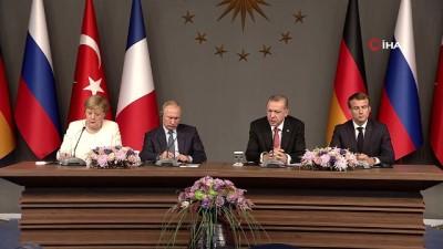 Cumhurbaşkanı Erdoğan'dan Dörtlü Suriye Zirvesi'nde Cemal Kaşıkçı açıklaması... 'Yerli işbirlikçi kimdir? Bunu açıklamayı yapan kişi yada kişiler ortaya koymalıdır'