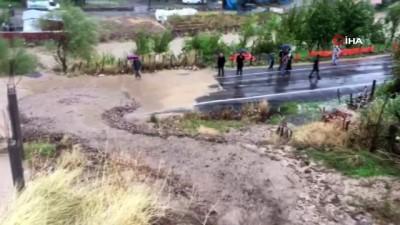 bal arisi -  Şırnak'ta aşırı yağışın neden olduğu toprak kayması böyle görüntülendi