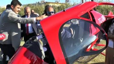 hava taksi - Denizli protokolü 'Cumhuriyet uçuşu' gerçekleştirdi - DENİZLİ