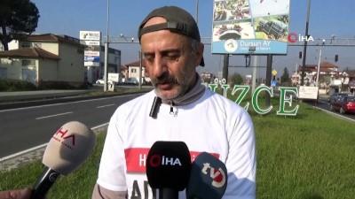 adalet yuruyusu -  Bu defa gazeteci Kılıçdaroğlu'ndan adalet için yola çıktı