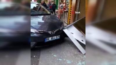 Sürücüsü sara nöbeti geçiren otomobil iş yerine daldı