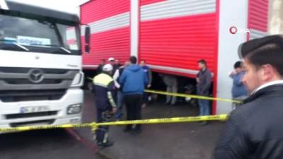 Viteste unutulan kamyon çocuk işçiyi ezdi